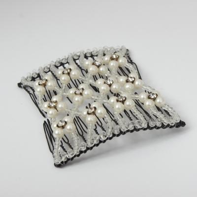Trend Magic Combs Perlen und Strass Weiß - 2