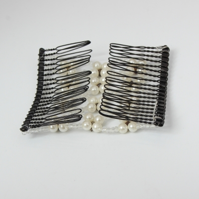 Trend Magic Combs Perlen und Strass Weiß - 3