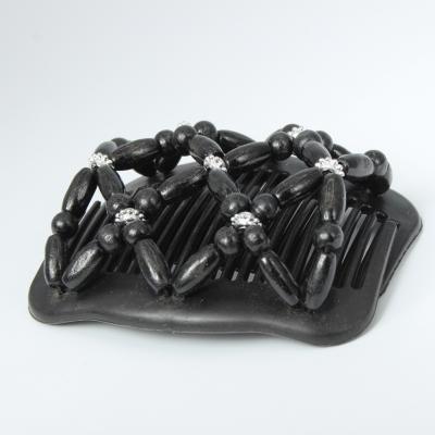 Trend African Hairclip Haarklammer in Blüten Design Schwarz - 3