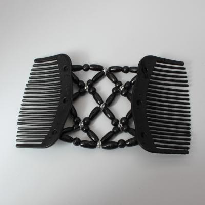 Trend African Hairclip Haarklammer in Blüten Design Schwarz - 4