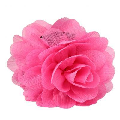 Haarklammer Blüten Lotusblume Haargreifer Krabbe Clip mit dezentem Glitzerstreifen in der Farbe Pink - 2