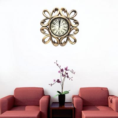 Wanduhr Küche modernes design im Vintage stil Quarzuhr Shabby Chic Dekoration Altgold - 1