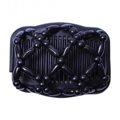 Trend African Hairclip Haarklammer Haarkamm in Blüten Design Schwarz - 1