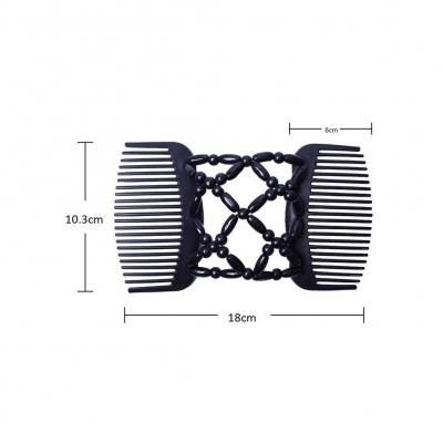 Trend African Hairclip Haarklammer Haarkamm in Blüten Design Schwarz - 2