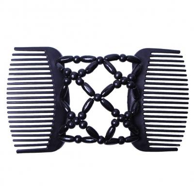 Trend African Hairclip Haarklammer Haarkamm in Blüten Design Schwarz - 3