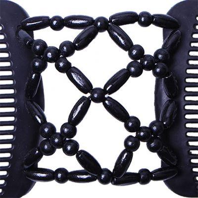 Trend African Hairclip Haarklammer Haarkamm in Blüten Design Schwarz - 4