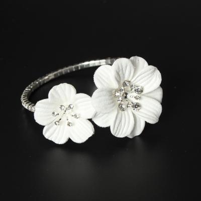 Straß Armband mit Blumen Armschmuck Armreif Kommunion - 1