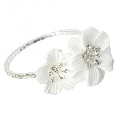 Straß Armband mit Blumen Armschmuck Armreif Kommunion - 2