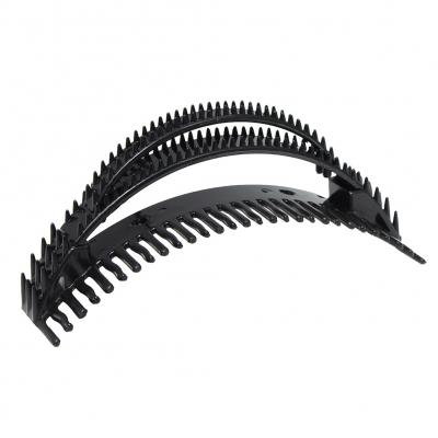 Frisurenhilfe Pony Haarkamm Volume Bumpits Styling Tool 3er Set Schwarz - 2