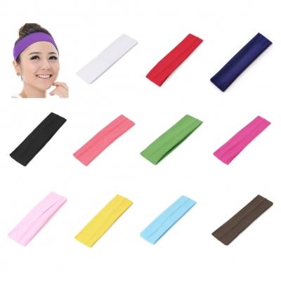 Sporthaarband Stirnband Haargummi Haarband für Sport Yoga Fitness Schweißband Schwarz - 1