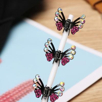 3 x Mini Haarklammern in Schmetterling Form mit Strass-Steinen bestückt - 3