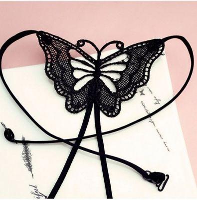 BH Träger Schmetterling Ersatzträger Rückenschmuck Butterfly Schwarz - 3