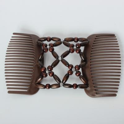 Trend African Hairclip Haarklammer Haarkamm Blüten Holzdesign Braun - 5