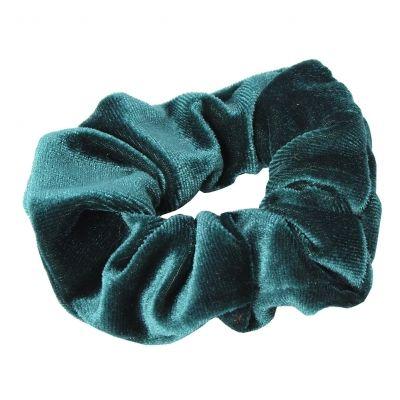 XL Velour Samt Haargummi Zopfgummi Haarband Pferdesschwanz Scrunchie Türkis - 2