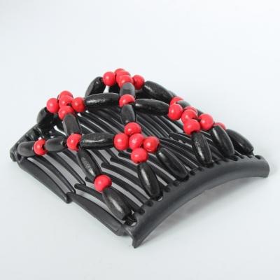 Trend African Hairclip Haarklammer Haarkamm Blüten Holzdesign Rot - 3