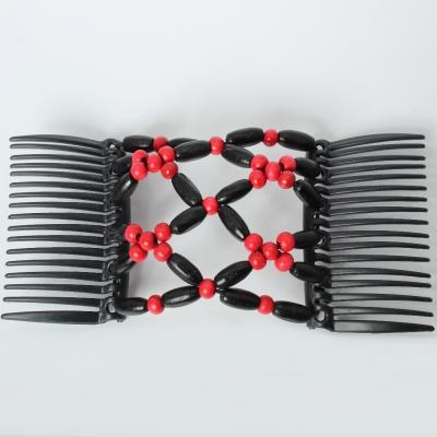 Trend African Hairclip Haarklammer Haarkamm Blüten Holzdesign Rot - 5