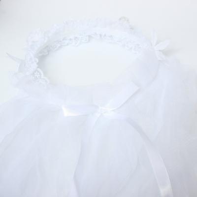 Brautschleier mit Straß Rosen Ellbogen Schleier - 1