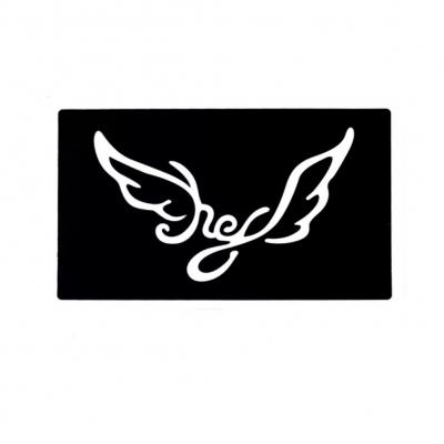 Henna Tattoo Schablone Airbrush Stencil Selbstklebend Engel Flügel - 1