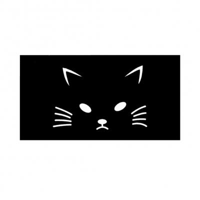 Henna Tattoo Schablone Airbrush Stencil Selbstklebend Katze Kitty Cat - 1