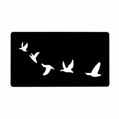 Henna Tattoo Schablone Airbrush Stencil Selbstklebend Zugvögel - 1