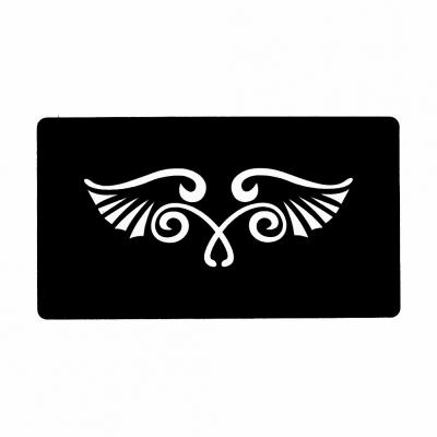 Henna Tattoo Schablone Airbrush Stencil Selbstklebend Flügel - 1