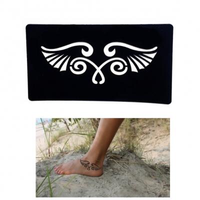 Henna Tattoo Schablone Airbrush Stencil Selbstklebend Flügel - 3