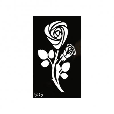 Henna Tattoo Schablone Airbrush Stencil Selbstklebend Rose - 1