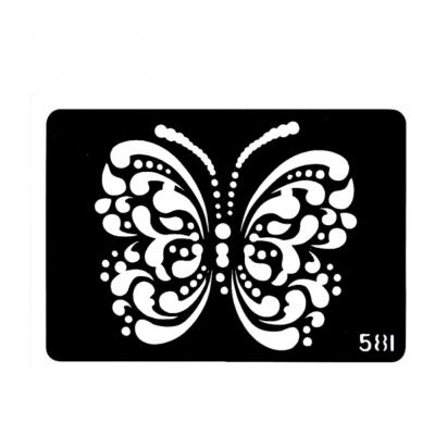 Henna Tattoo Schablone Airbrush Stencil Selbstklebend Schmetterling - 1