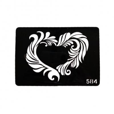 Henna Tattoo Schablone Airbrush Stencil Selbstklebend Herz - 1