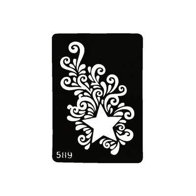 Henna Tattoo Schablone Airbrush Stencil Selbstklebend Stern - 1