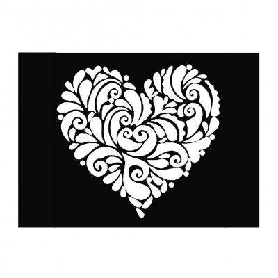 Henna Tattoo Schablone Airbrush Stencil Selbstklebend Herz Blume - 1
