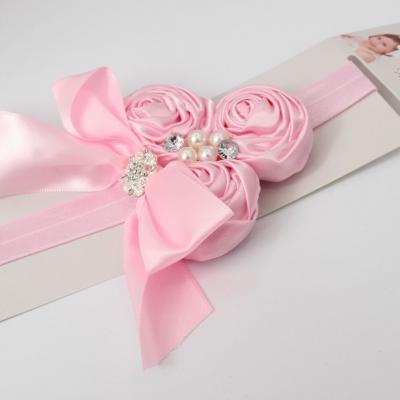 Süßes Mädchen Haarband mit Strass und Perlen - 2
