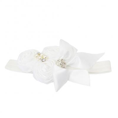 Süßes Mädchen Haarband mit Strass und Perlen - 3
