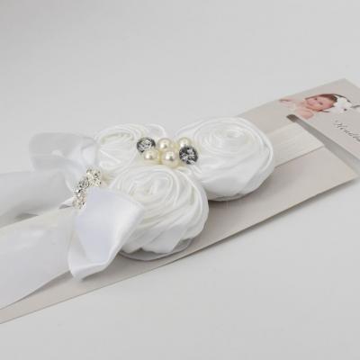 Süßes Mädchen Haarband mit Strass und Perlen - 4