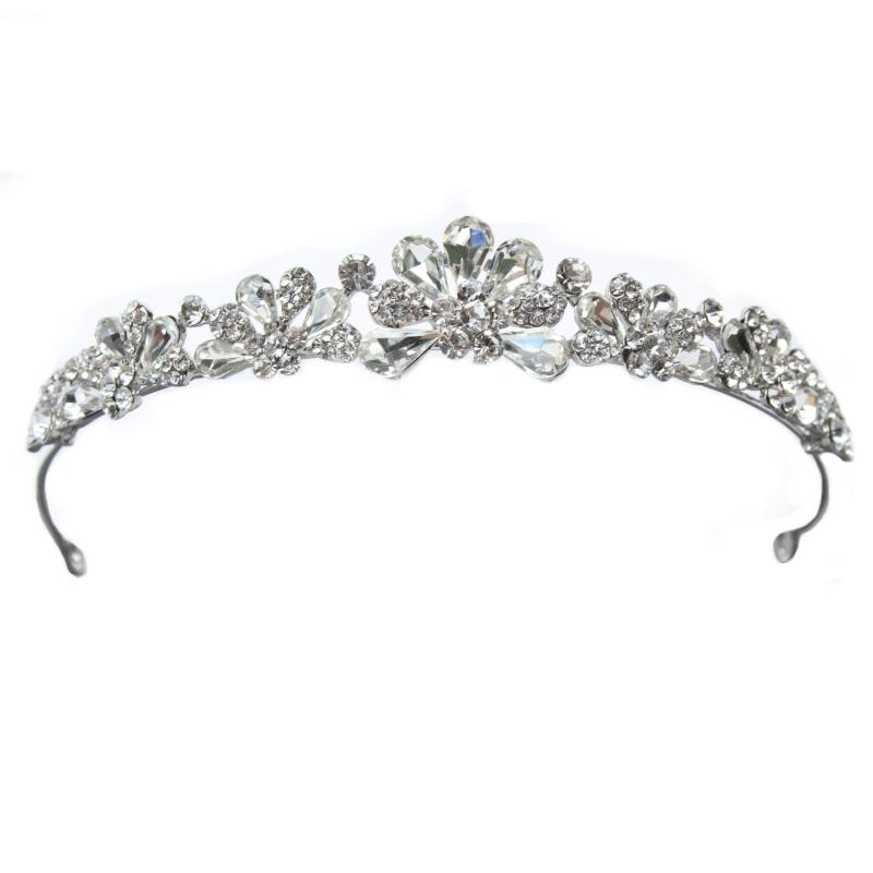 luxus strass diadem tiara hochzeit braut neu ebay. Black Bedroom Furniture Sets. Home Design Ideas