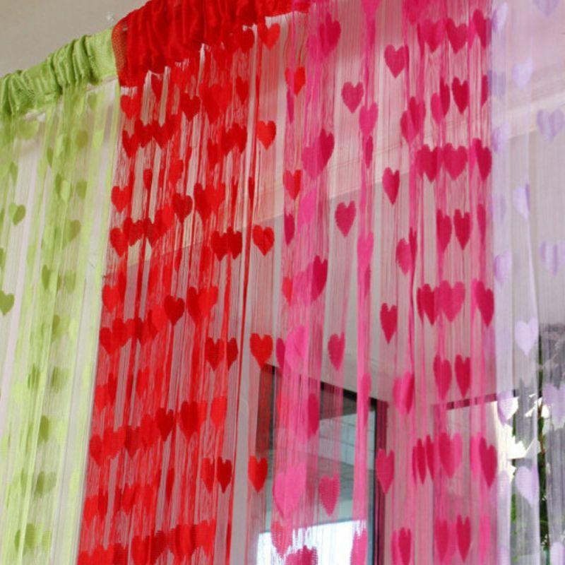 raumteiler t rvorhang gardine vorhang dekoration herz design neu ebay. Black Bedroom Furniture Sets. Home Design Ideas