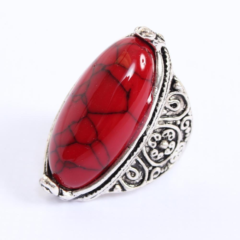 edelstahl ring gro er ovaler stein modeschmuck luxus marmor optik ebay. Black Bedroom Furniture Sets. Home Design Ideas
