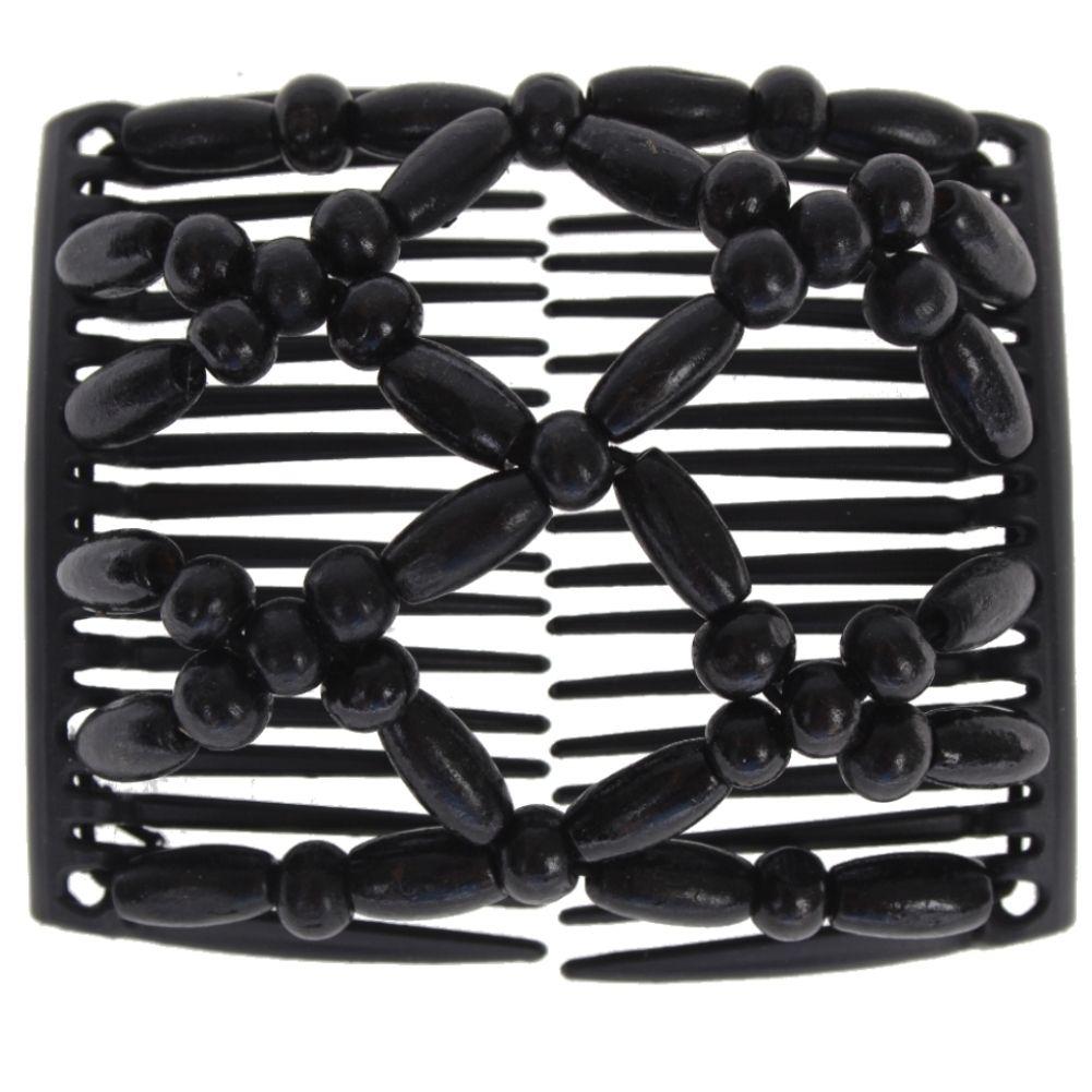 XL Trend African Hairclip Haarklammer Haarspange Haarkamm Elastich Comb Flamenco