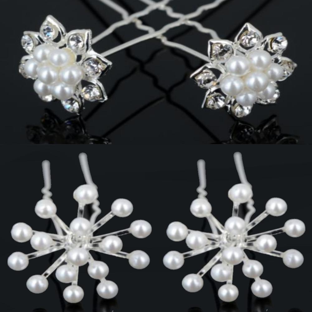 2 strass perlen haarnadeln braut kommunion hochzeit blumen. Black Bedroom Furniture Sets. Home Design Ideas