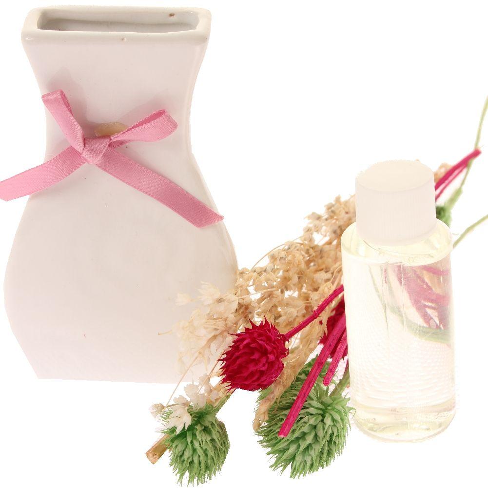 duft l deko keramik vase mit schleife verschiedene d fte 30 ml der onlineshop f r. Black Bedroom Furniture Sets. Home Design Ideas