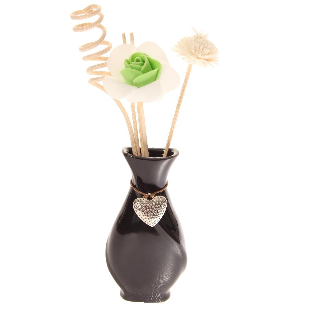 duft l aroma l blumen st bchen deko keramik vase mit. Black Bedroom Furniture Sets. Home Design Ideas
