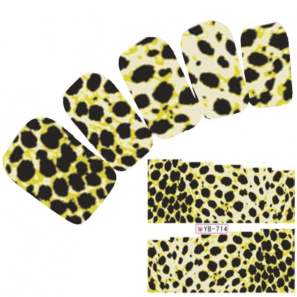 Tattoo Nail Art Aufkleber Löwe Muster Tiger Leopard Lion Nagel ...