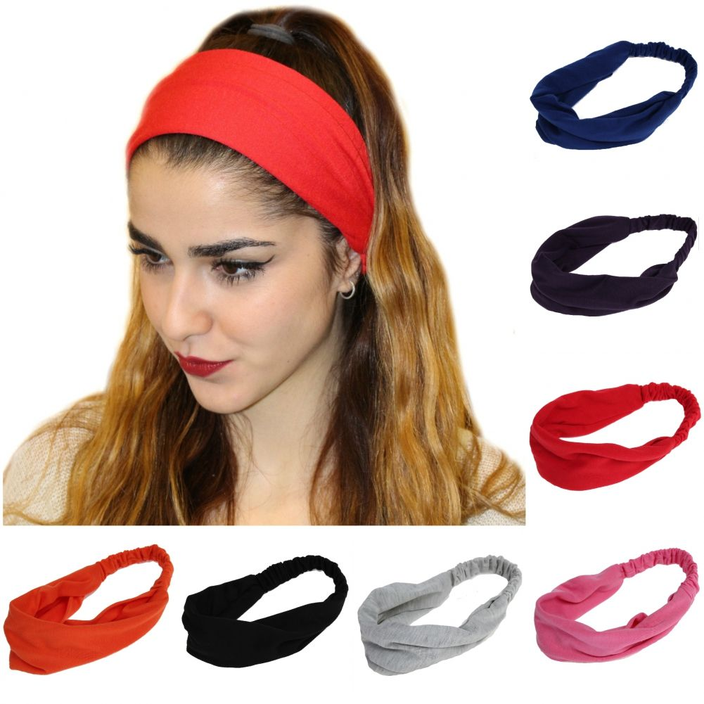 Neu Funktion Haarband Kopfschmuck Stirnband Yoga Sport Schweißband Elastisch