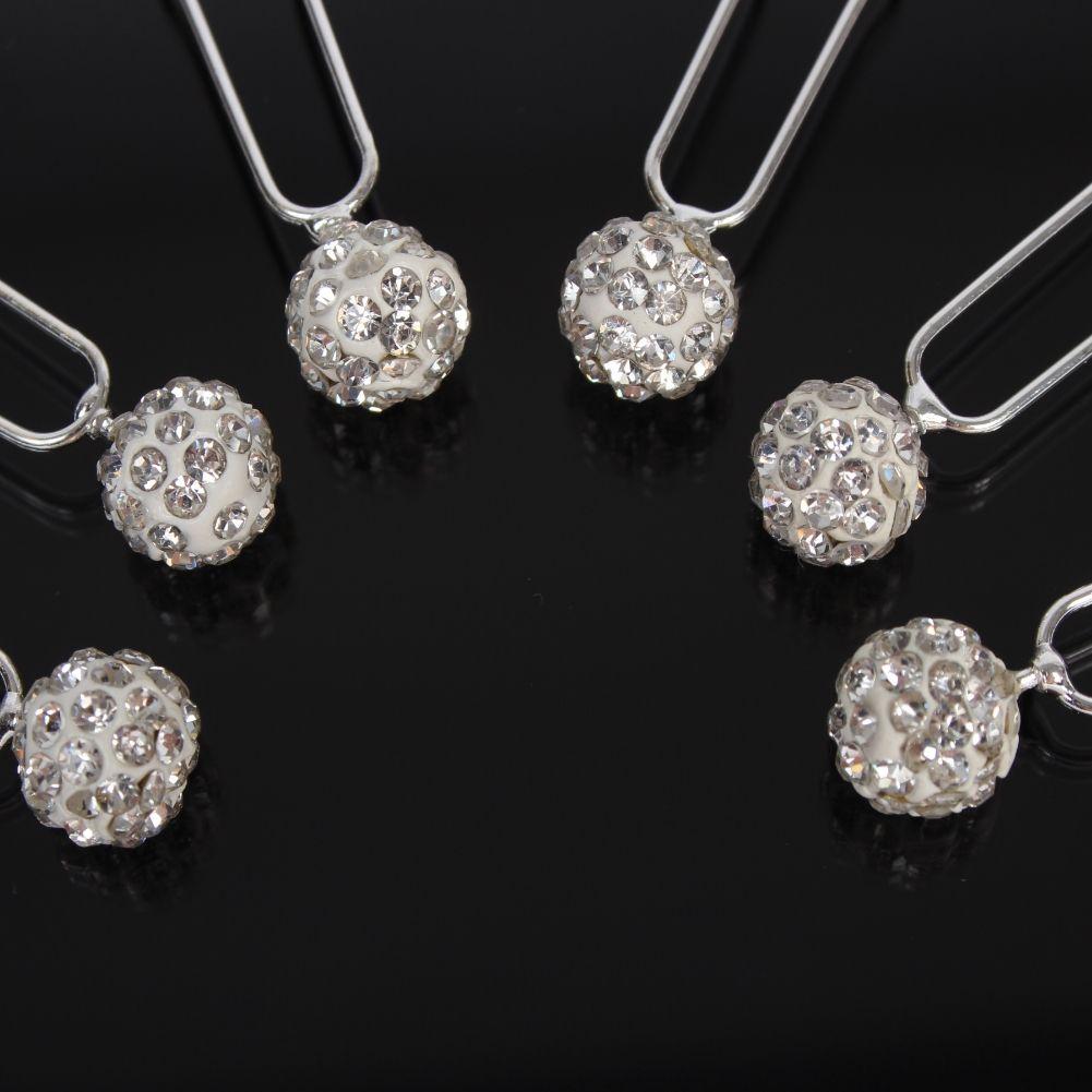 6 perlen strass haarnadeln braut kommunion hochzeit ball - Hochzeit haarschmuck ...