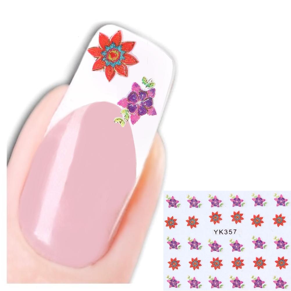 3d nagel sticker new design flower star glitzer blume. Black Bedroom Furniture Sets. Home Design Ideas