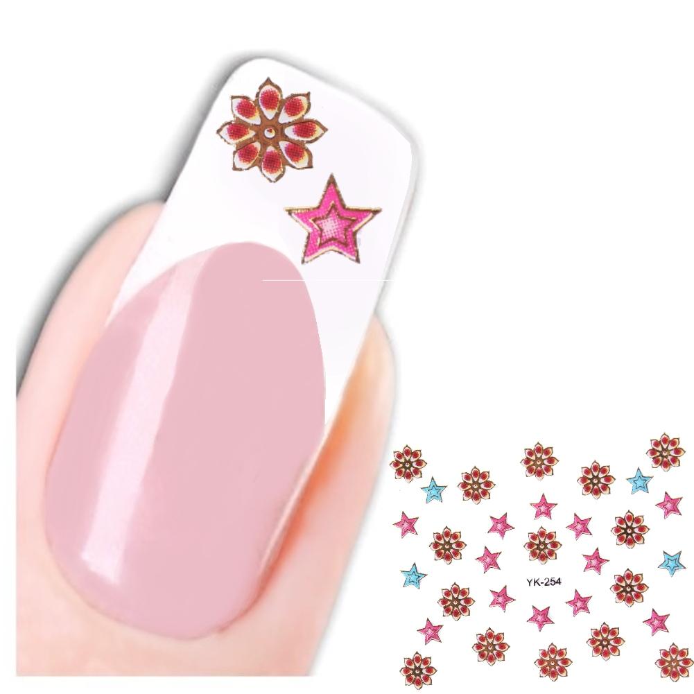 3D Nagel Sticker Blume Stern Aufkleber Nail Art Flower New Design ...