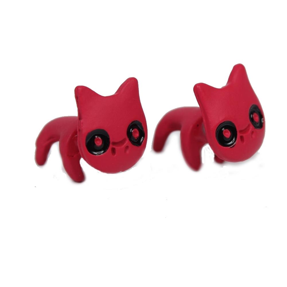 3d ohrringe katze ohrstecker cat ohrschmuck earring ear. Black Bedroom Furniture Sets. Home Design Ideas