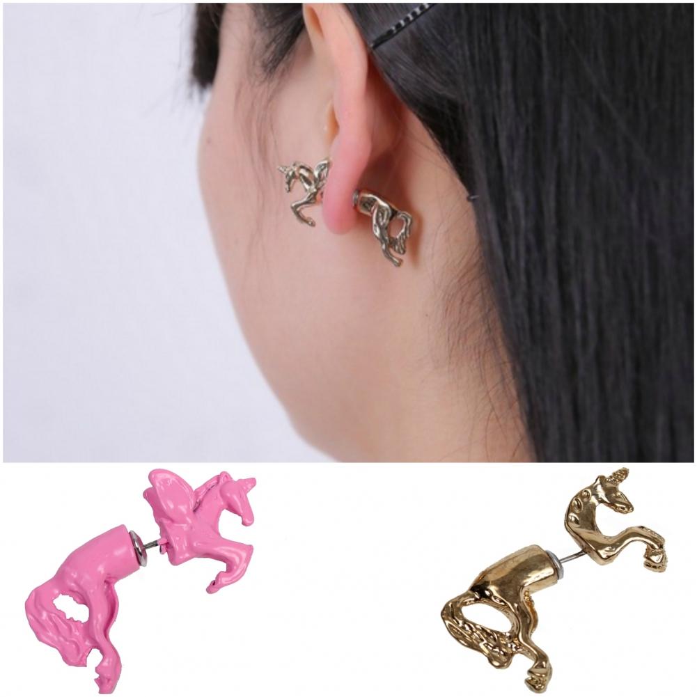 3d einhorn ohrringe ohrstecker ohrschmuck earring unicorn. Black Bedroom Furniture Sets. Home Design Ideas