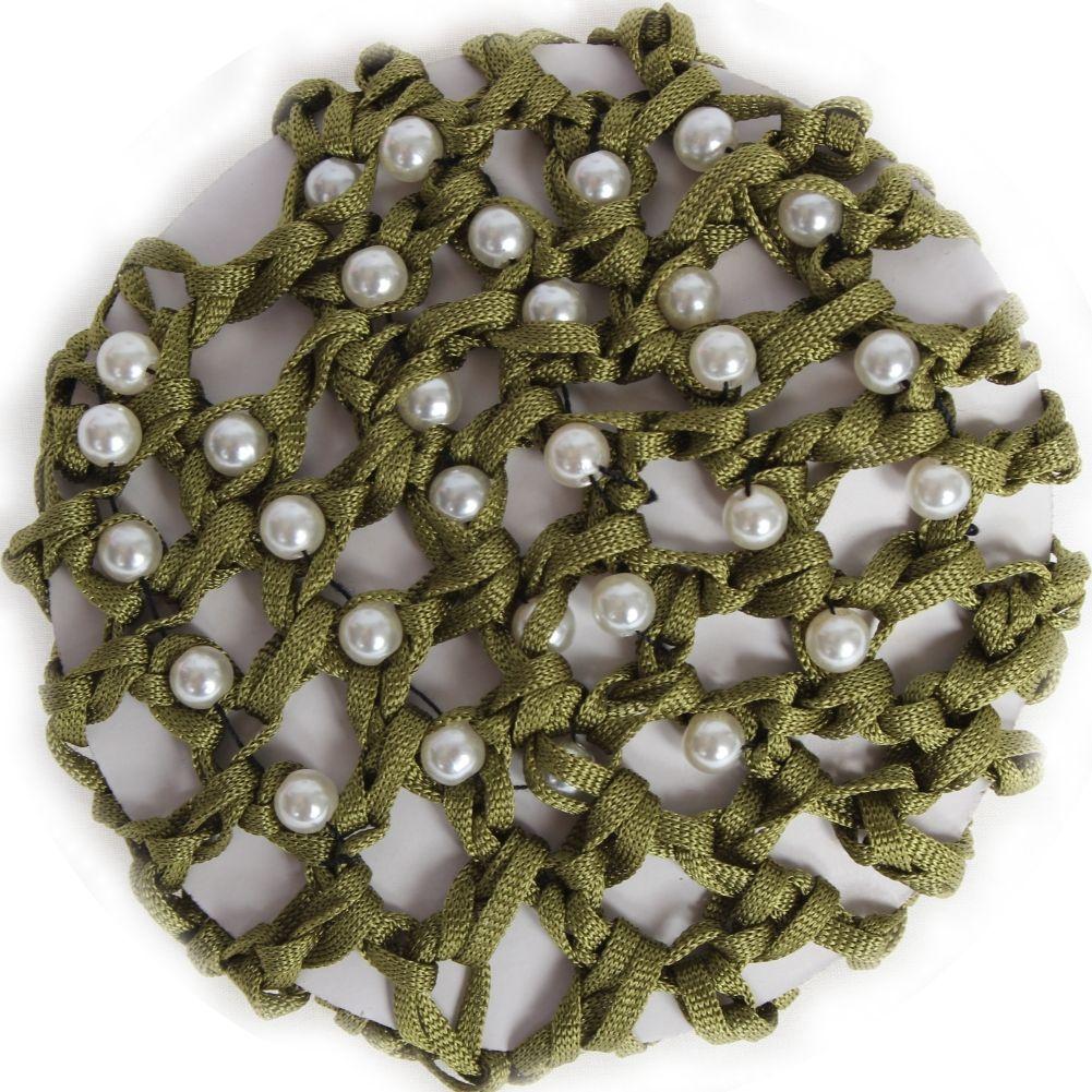 grün mit Perlen