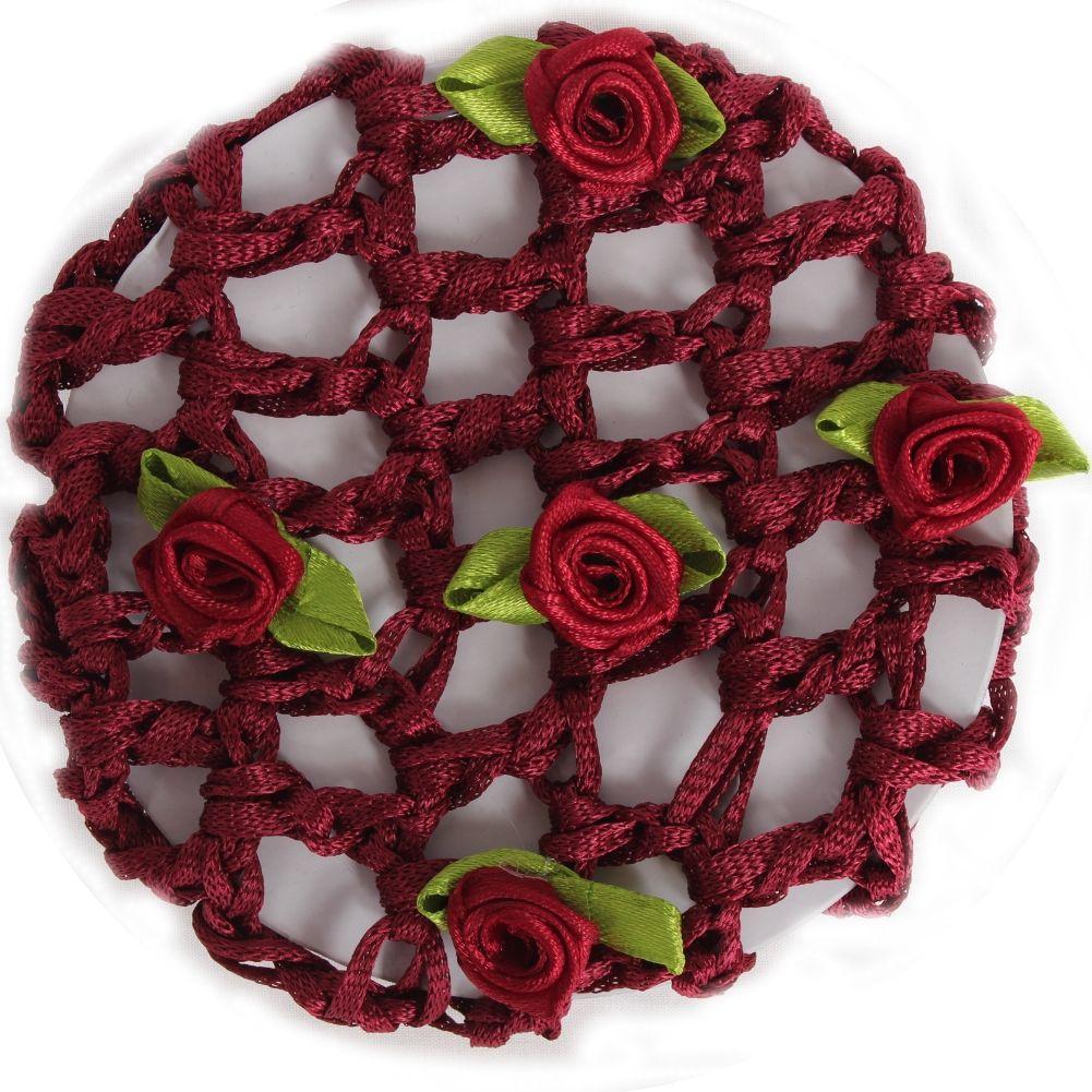 bordeaux mit Blüten